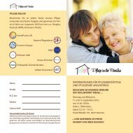 InformatIonen für PflegebedürftIge und Pflegende angehörIge
