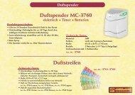 Duftstreifen Duftspender MC-3760 - SHS - Sanitär-Hygiene-Service
