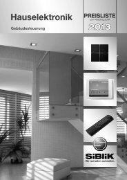 Bruttopreisliste 2013 - Siblik Elektrik Ges.m.b.H. & Co. KG
