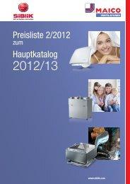 Preisliste 2/2012 Hauptkatalog