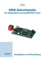 KNX-Schnittstelle - Elsner Elektronik GmbH
