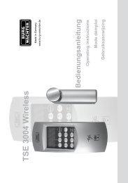 TSE 3004 W ireless Bedienungsanleitung