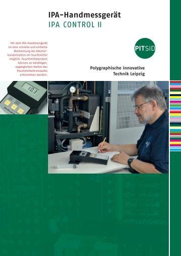 IPA-Handmessgerät IPA CONTROL II - Sächsisches Institut für die ...
