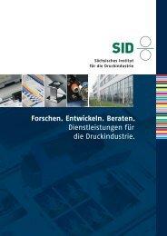 Lesen Sie hier mehr über das SID - Sächsisches Institut für die ...