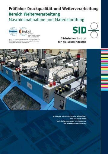 Maschinenabnahme und Materialprüfung - Sächsisches Institut für ...