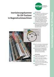 Inertisierungskammer für UV-Trockner in Bogendruckmaschinen
