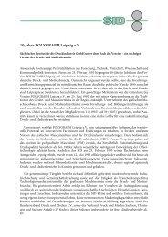 10 Jahre POLYGRAPH Leipzig e.V. - Sächsisches Institut für die ...