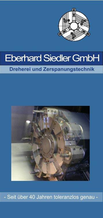 Informationsbroschüre - Eberhard Siedler GmbH