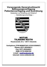 Information zur Vorsorgevollmacht - Chemnitzer ...