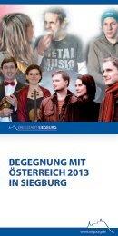 Begegnung mit Ć–sterreich 2013 in Siegburg (pdf