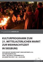 Programm Mittelaltermarkt (pdf ) - Siegburg