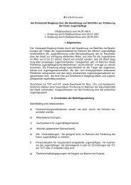 Richtlinien / Beihilfen zur Förderung der freien ... - Siegburg