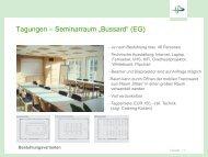 Informationen zu den Tagungsräumen - Heinz Sielmann Stiftung