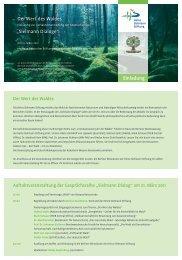 Programm zur Auftaktveranstaltung - Heinz Sielmann Stiftung