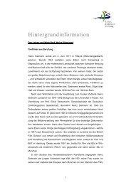 Hintergrundinformation - Heinz Sielmann Stiftung