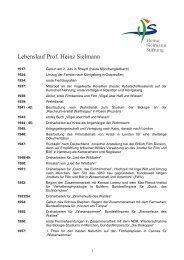 Lebenslauf HS - Heinz Sielmann Stiftung