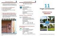 Faltblatt Dorferneuerung Odisheim