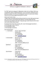 DEO-Dorfverein engagierter Odisheimer  von 2010 e.V.