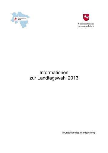 Informationen zur Landtagswahl 2013