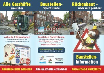Baustellen- Information