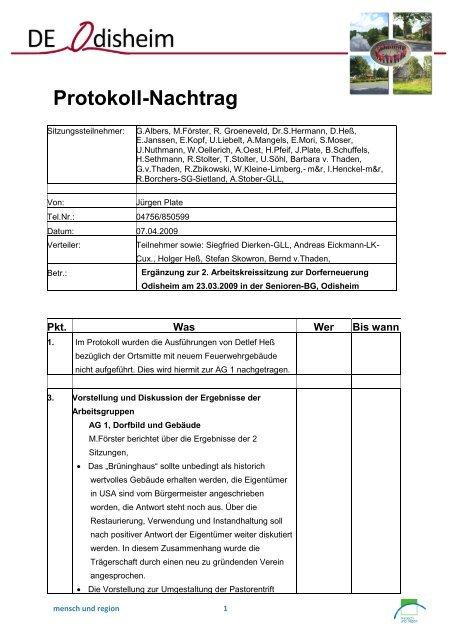 Protokoll-Nachtrag