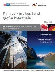 großes Land, große Potentiale - Deutsch-Kanadische AHK - AHKs
