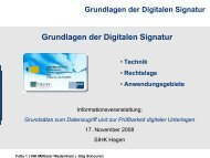 Grundlagen der Digitalen Signatur