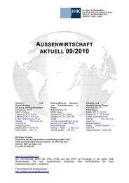 AUSSENWIRTSCHAFT AKTUELL - Südwestfälische Industrie