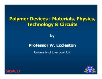 Polymer Devices : Materials, Physics, Technology & Circuits - Silvaco