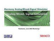 Harmony Analog/Mixed-Signal Simulator - Silvaco