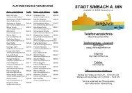 ALPHABETISCHES VERZEICHNIS - Simbach  am Inn