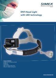 ENT-Head Light with LED technology - SIMEX Medizintechnik GmbH