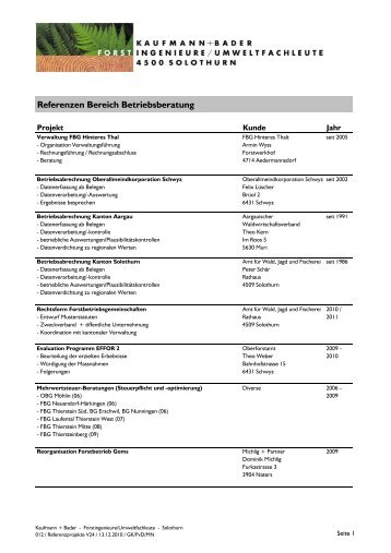 Betriebsberatung - kaufmann+bader