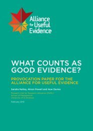What counts as good evidence?