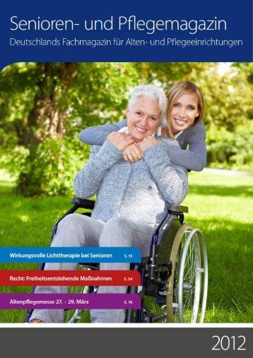 Artikel im Senioren- und Pflegemagazin 2012 - Sinfonie