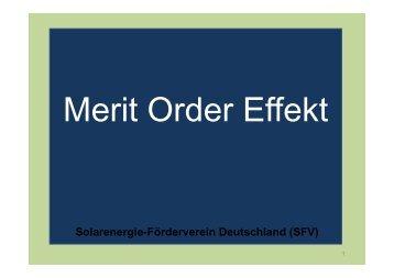 Merit-Order Effekt 040409 - SFV