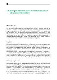 10. Fare prevenzione: esercizi di rilassamento e altre raccomandazioni