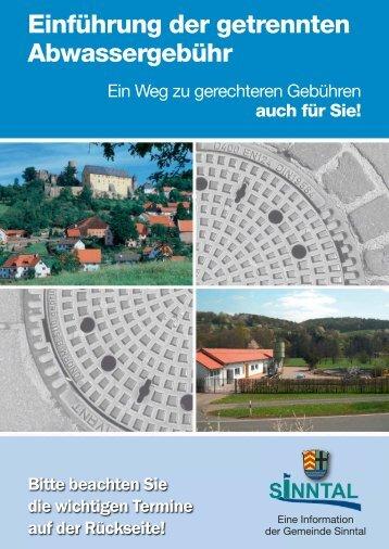 Gesplittete Abwassergebühr - Gemeinde Sinntal