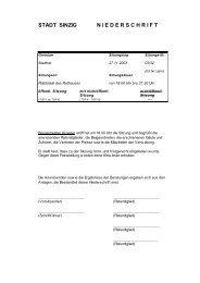 Niederschrift der Stadtratssitzung vom 27.11.2003 - Sinzig