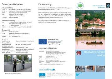 Hochwasserschutz Sinzing - Gemeinde Sinzing