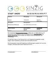 Niederschrift der Stadtratssitzung vom 16.09.2010 - Sinzig