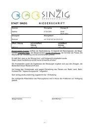 Niederschrift der Stadtratssitzung vom 07.05.2009 - Sinzig