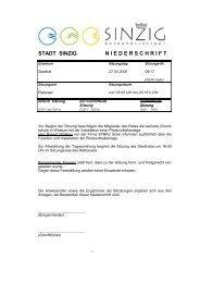 Niederschrift der Stadtratssitzung vom 27.04.2006 - Sinzig