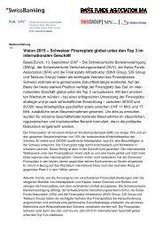 Vision 2015 – Schweizer Finanzplatz global unter den Top 3 im ...