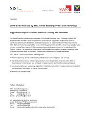 Joint Media Release by SWX Swiss Exchange/virt - SIX Securities ...