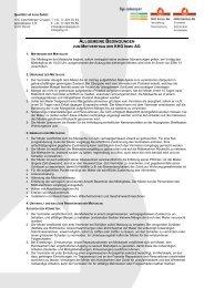 Allgemeine Bedingungen zum Mietvertrag inkl. Hausordnung - KHG