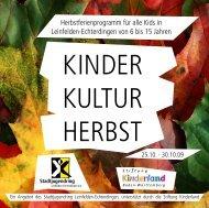 kinder kultur herbst 2009 - Stadtjugendring Leinfelden-Echterdingen ...