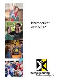 Jahresbericht 2011/2012 - Stadtjugendring Leinfelden-Echterdingen ...
