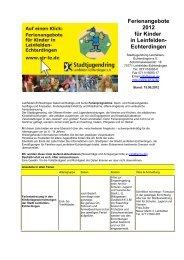 Echterdingen - Stadtjugendring Leinfelden-Echterdingen eV