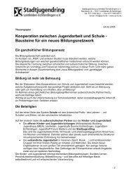 Kooperation Jugendarbeit - Schule - Stadtjugendring Leinfelden ...